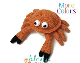 Crochet Crab- Stuffed Crab- Crab Plush- Crustacean Plush- Toys- Handmade Crab- Crochet Toy- Made to Order