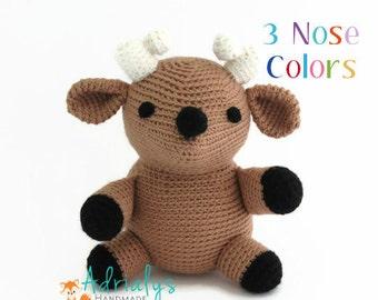 Crochet Deer, Deer Stuffed Animal, Deer Plush, Deer Amigurumi, Woodland Stuffed Animals, Handmade Deer, Crochet Toy - Made to Order