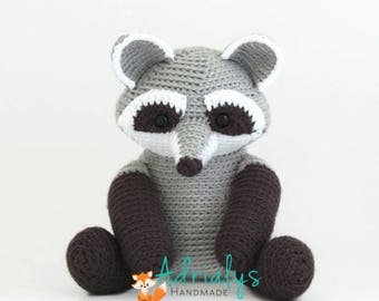 Crochet Raccoon- Stuffed Raccoon- Raccoon Plush- Woodland Animals- Forest Animals- Handmade Raccoon- Crochet Toys- Made to Order