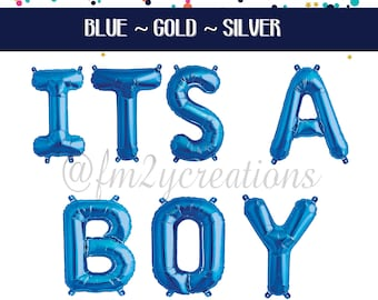 ITS A BOY | Its A Boy Letter Balloon |  Its a Boy Baby Shower | Oh Boy Boy Baby Shower Decor Letter Banner Balloons | Foil Letter Balloons