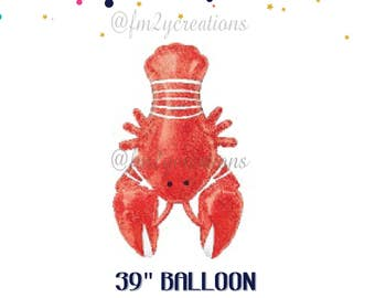 Crawfish Boil Decor Balloon | Crawfish Lobster Balloon Crawfish Boil Decorations | Crawfish Graduation Party Birthday Party Couple's Shower