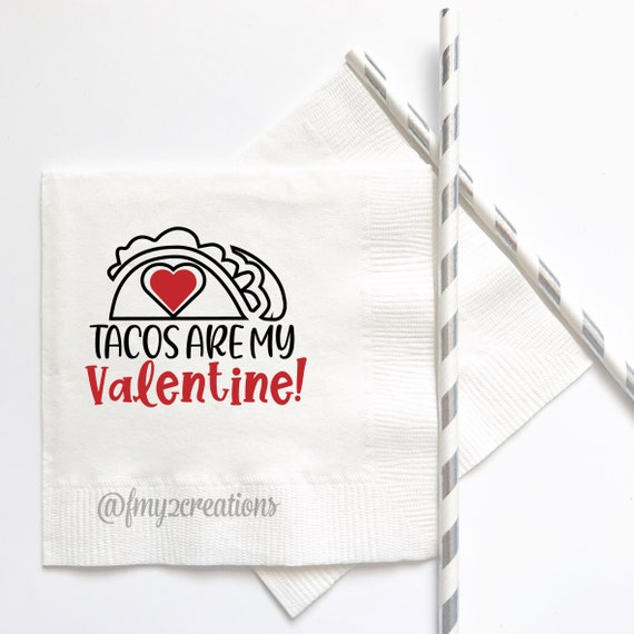 VALENTINES DAY Napkins Custom Personalized Napkins Valentines Day Party Supplies Be Mine Party Decor Beverage Napkins VD18