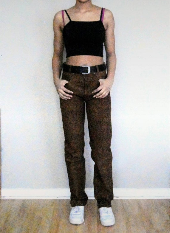 90s vintage leather pants
