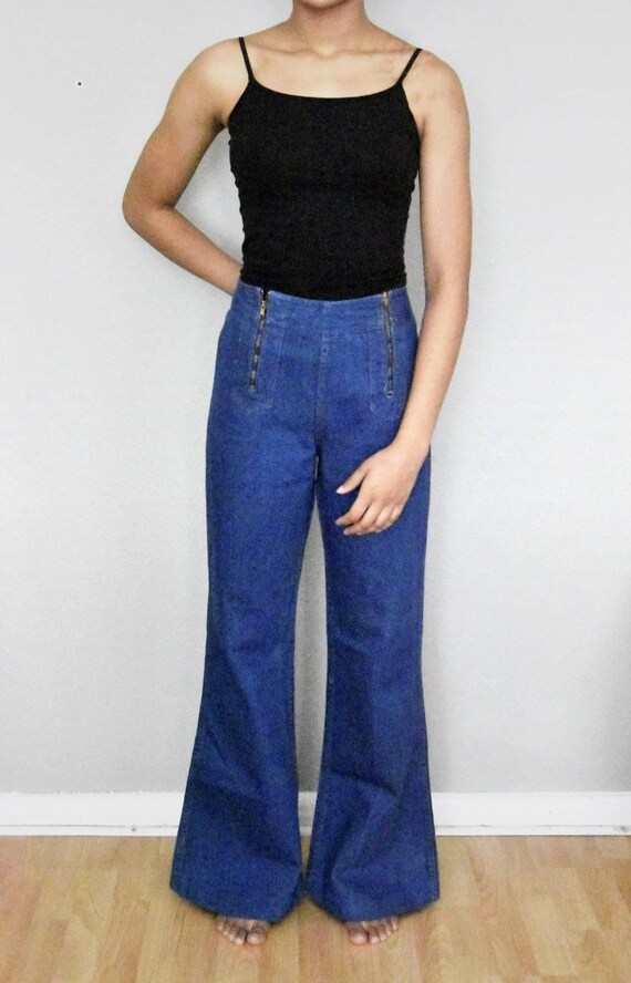70s vintage whipped jeans