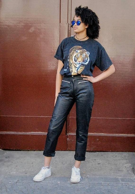 90s Vintage Leather Pants