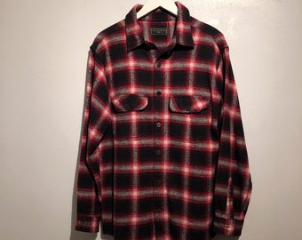 0aece6d14 Vintage Field and Stream Plaid Cotton Oversized Flannel Shirt