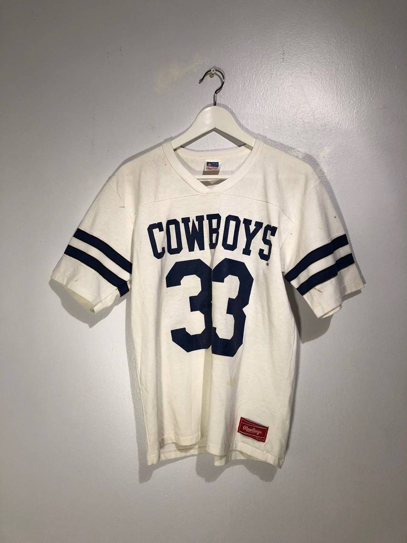 finest selection 4c671 933ff Vintage 1980s Dallas Cowboys Tony Dorsett Jersey T-Shirt