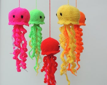 Jellyfish Mobile Baby Mobile Crochet Nursery Mobile