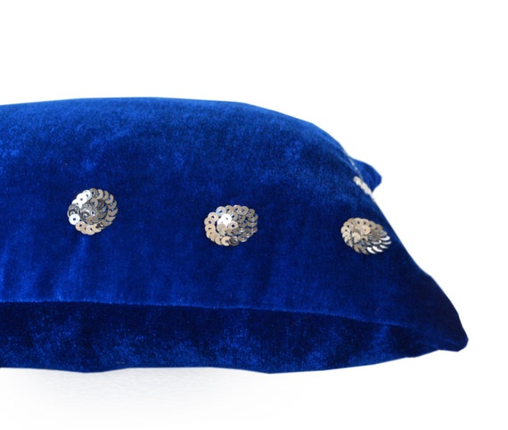 PLUSH Velvet Pillow Cover Royal Blue