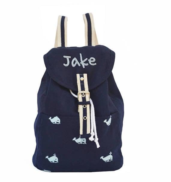Preschool Backpack Boys Bags Kids Backpacks Birthday Present Navy Backpack Personalized Bag Name Bag Toddler Book Bag Gift Grandchild