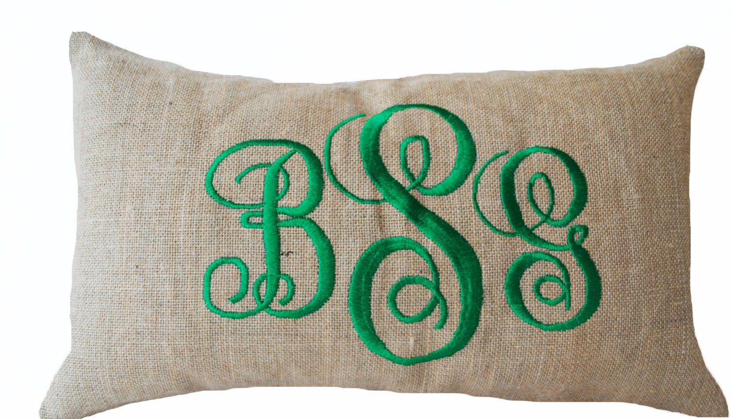 Monogram Throw Pillow Lumbar Pillow Cover Monogrammed