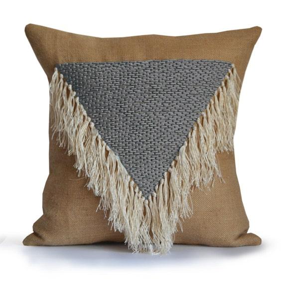 Boho Throw Pillows Geometric Decorative Pillow Cover Shaggy Etsy Interesting Shaggy Decorative Pillows