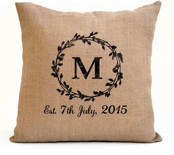 EstDate Pillow Birthday Gift Wedding Registry