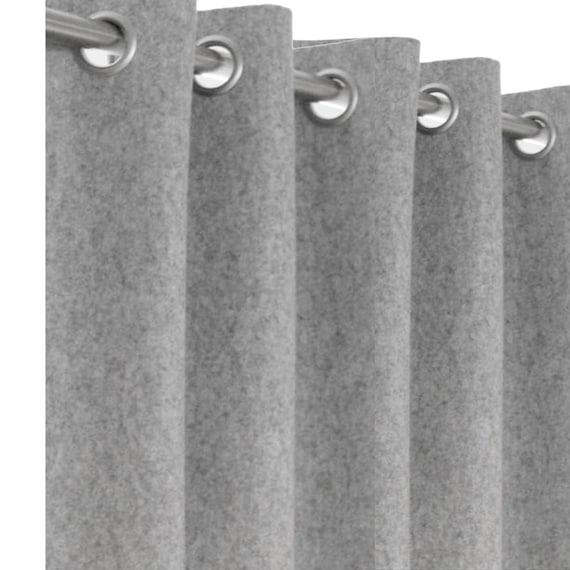 Wollfilz Massgeschneiderte Vorhange Leicht Grau Filz Vorhang Panel Benutzerdefinierte Fenstervorhang Tur Vorhang Ose Vorhang Wolle Vorhange Fur Den