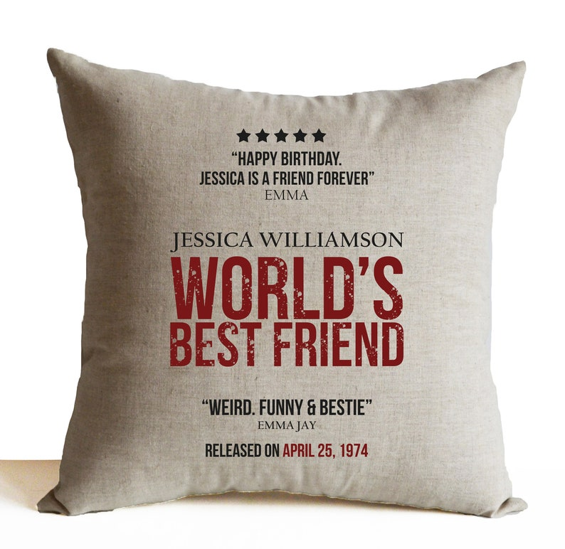 Best Friend Birthday Gift Movie Poster Pillow Cases Film Personalized Art 50th Ideas