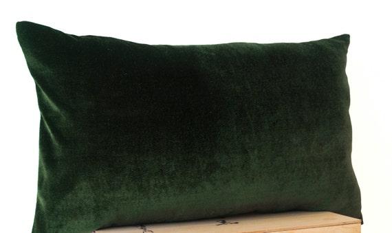 Olive Green Lush Velvet Oatmeal Linen Pillow Cover Velvet Etsy Simple Lush Decor Pillows