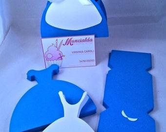 Set of 10 Alice in wonderland favor box, candy favor, Alice dress, birthday favor for babies
