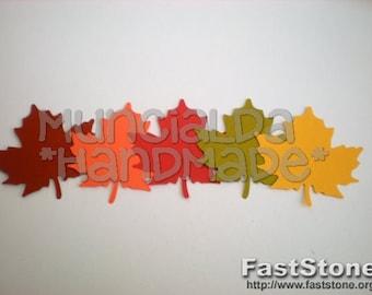 50 Autumn leaves - die cuts