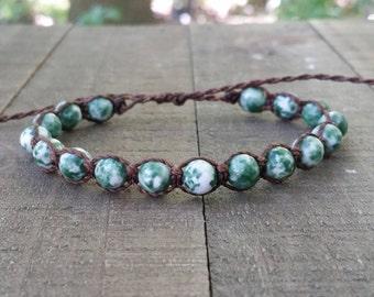 Tree agate macrame bracelet healing bracelet yogo bracelet boho bracelet stacking bracelet waterproof bracelet