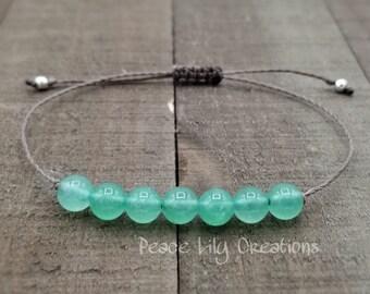 Green aventurine heart chakra yoga string bracelet healing bracelet minimalist jewelry chakra bracelet yoga jewelry energy bracelet