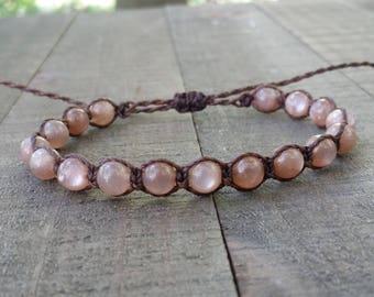 Sunstone macrame bracelet healing bracelet yogo bracelet boho bracelet stacking bracelet waterproof bracelet