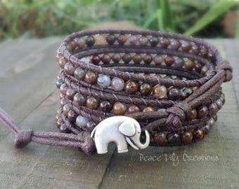 Pietersite Vegan Wrap Bracelet