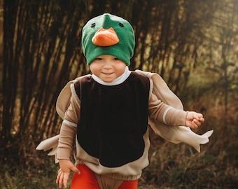 Mallard Duck Costume, Duck Halloween Costume, Party Costume, Halloween Costume for Girls, Toddler Girl Costume, Duck Bird Costume
