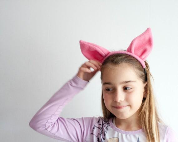 Adulto//bambino Orecchie Di Maiale E Coda Set Costume Fascia Costume Kit di accessori