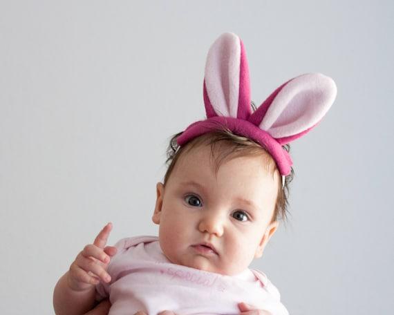 Baby Bunny Headband Pink Baby Rabbit Head Band Infant  cad3e468424