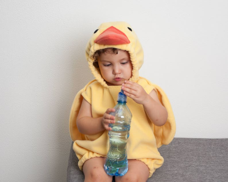 ff3d4f9588d2 Yellow Duck Costume Toddlers Halloween Costume Party