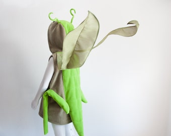 Grasshopper Children Costume, Halloween Costume for Toddler Boy or Girl, Toddler Cricket Costume with Wings