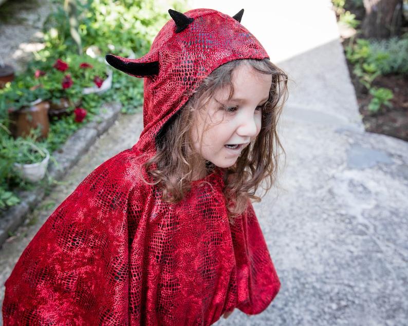 Dragon Skin Dinosaur Red Dragon Costume Halloween Costume with Wings Red and Black Dragon Costume