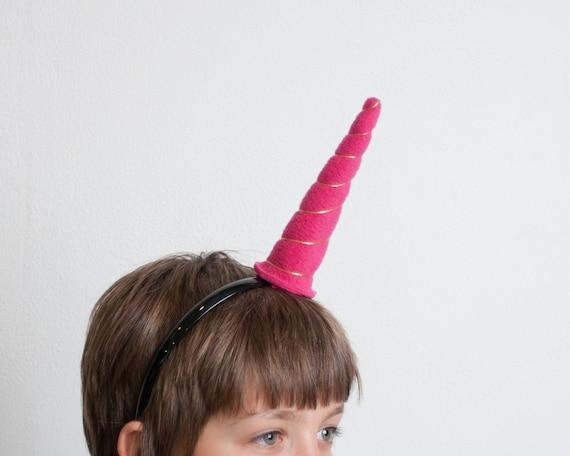 Bandeau de corne de Licorne, Licorne rose, défense de narval, filles Dress up, Dress up accessoire