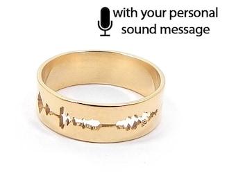 Resultado de imagen de wide sound wave ring etsy
