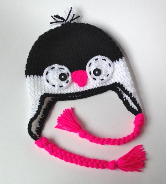 Penguin Hat Crochet Hat Penguin Crochet Penguin Hat Etsy