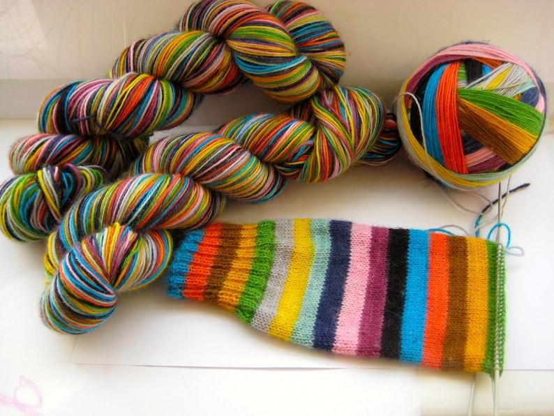 95g Short skein Mind The Gap self striping sock yarn