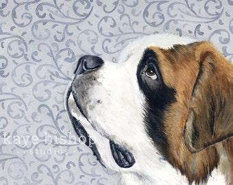 9fb54252f10c St Bernard Watercolor Painting