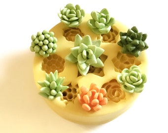 Super Tiny Miniature Succulents Mold for Jewelry Making and Precious Metal Clay Art