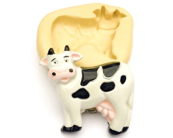 Cute Little Dairy Cow Mold, Farm Silicone Molds for Fondant, Soap Making, Polymer Clay, Resin, etc