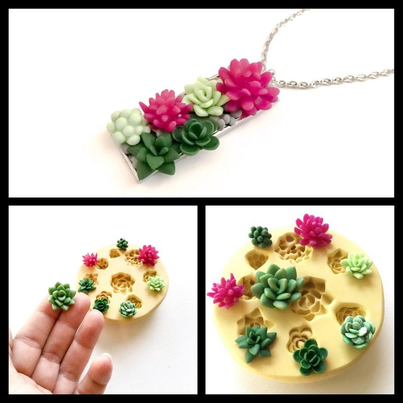 Miniature Succulents Mold Diy Terrarium Food Safe Silicone Etsy