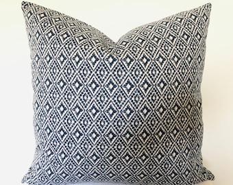 """Indigo Navy Blue Cushion cover, Aztec, 16"""", 18"""", 20"""", 22"""" double sided, UK"""