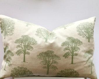 Green cushion cover Trees , 16'' 18'' 20'' 22'' 24'' 45cm 50cm UK