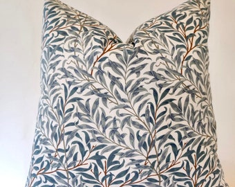 William Morris Willow Bough Cushion Cover, Green, choose size, UK