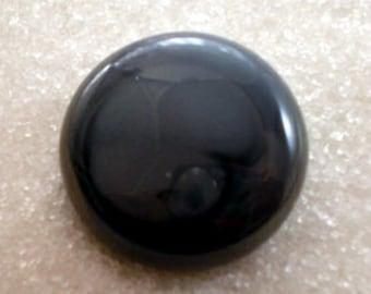 Navy Blue Glass Buttons