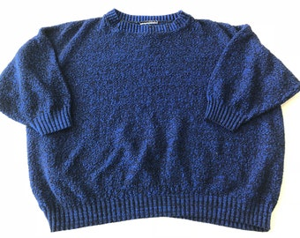 80's Electric Blue Cropped Sweater