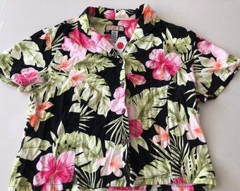 80's Cropped Hawaiian Shirt