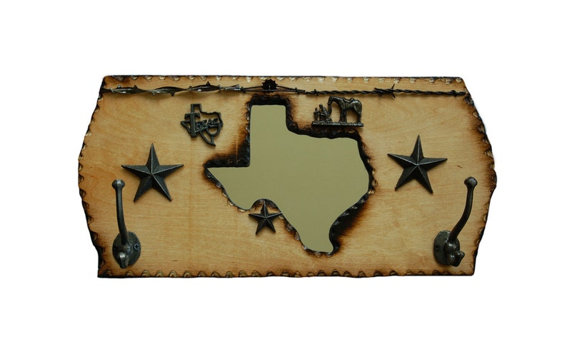 New Item  Texas Coat Rack with a Mirror image 0