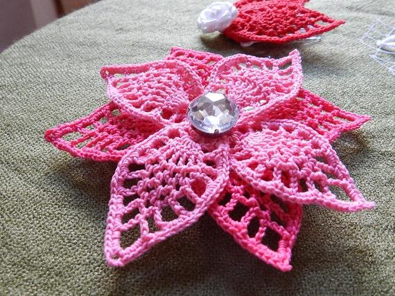 4 in 1 häkeln Blatt Muster Ohrringe Blumenkopfschmuck kleine | Etsy