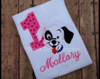 Dalmatian Birthday Shirt Spotted Puppy birthday shirt bodysuit