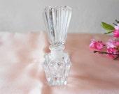 Vintage Perfume Bottle, Glass Scent Bottle Hollywood Glamour,